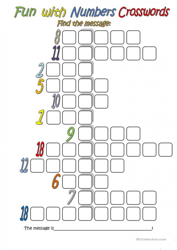 Fun With Numbers Crossword