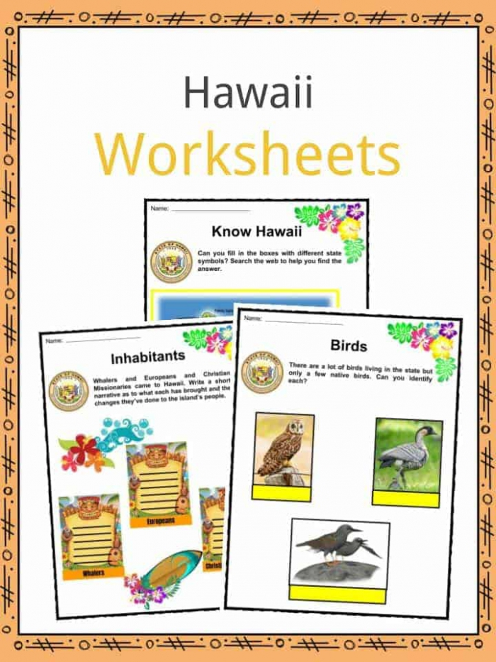 Hawaii Facts  Worksheets   State Historical Information For Kids