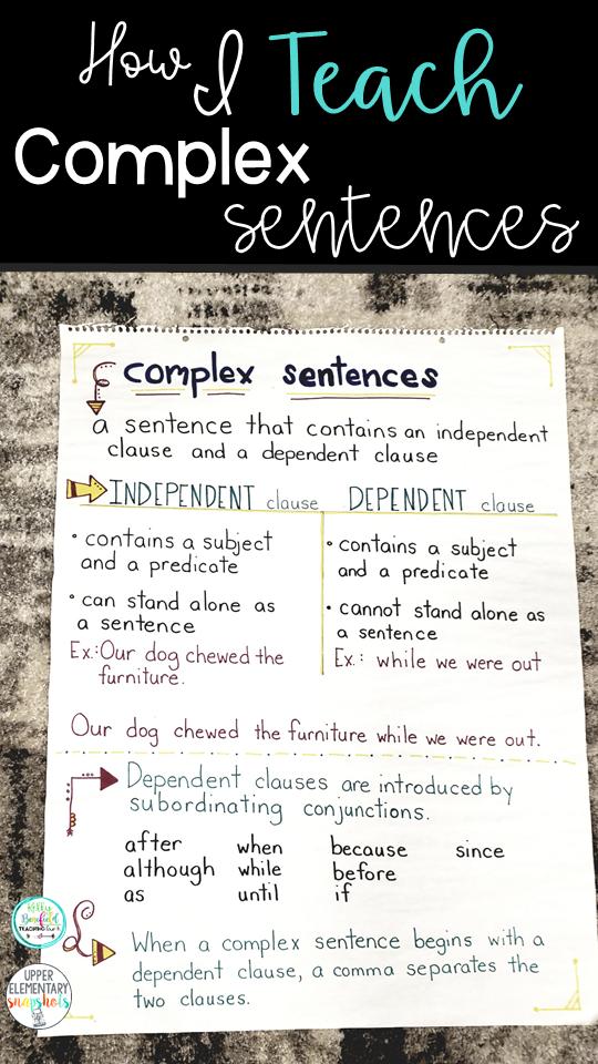 How I Teach Complex Sentences