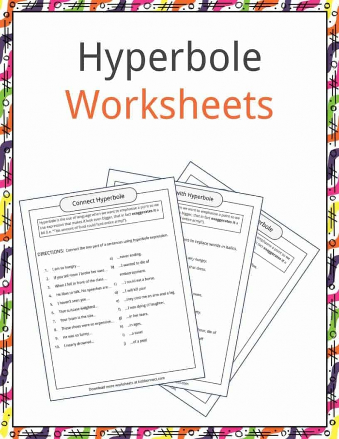 Hyperbole Examples  Definition   Worksheets