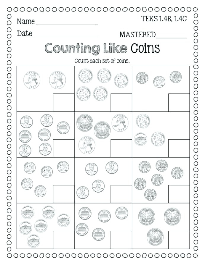 Identifying Coins Counting Freebie Flying High Grade Money Math