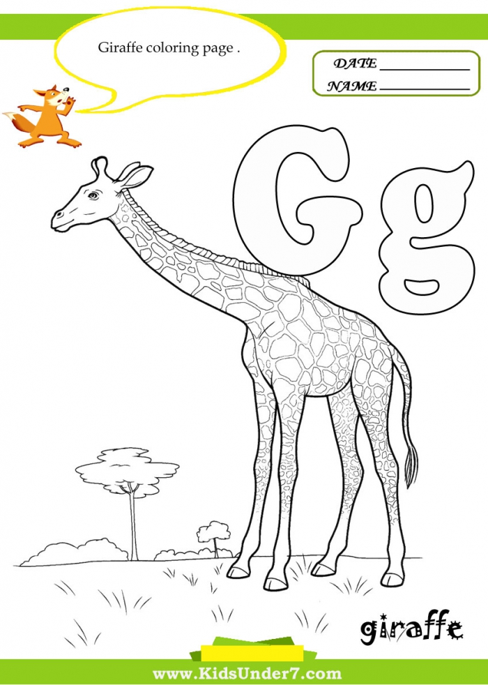 Kids Under  Letter G Worksheets And Coloring Pages