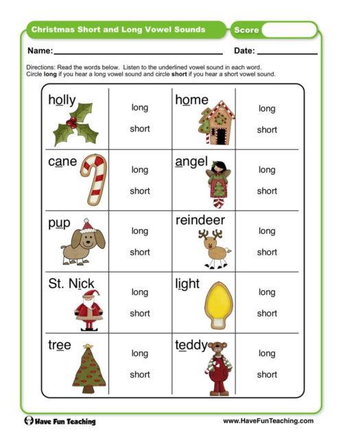 Kindergarten Vowels Worksheets  Have Fun Teaching