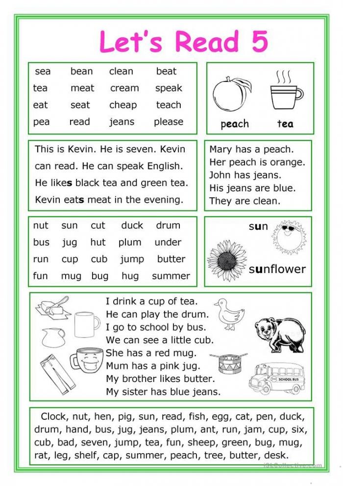 Lets Read  Worksheet
