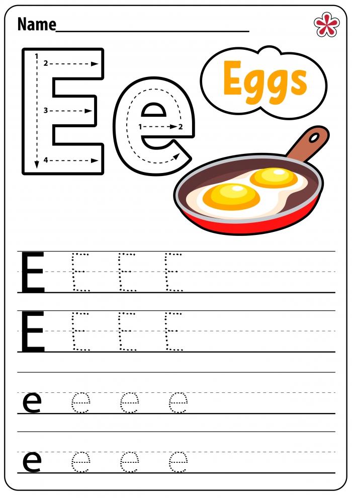 Letter E Worksheets For Kindergarten And Preschool Teachersmagcom