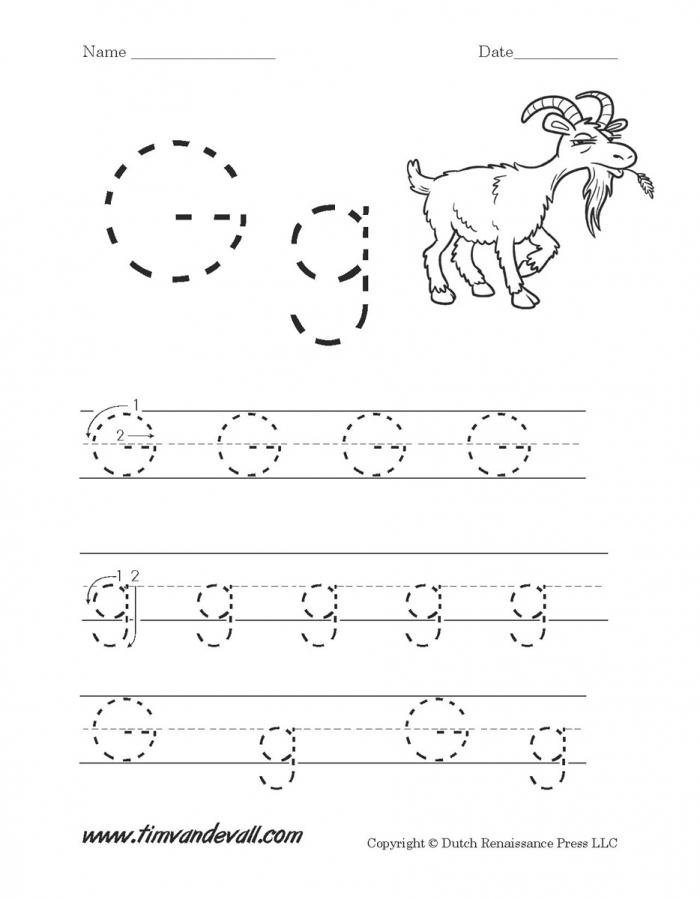 Letter G Worksheets For Kindergarten Worksheet Alphabet Activity