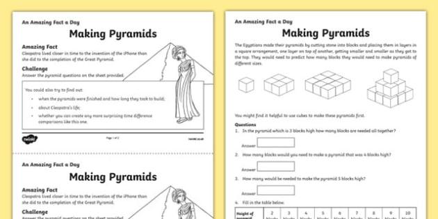 Making Pyramids Worksheet  Worksheet  Worksheet