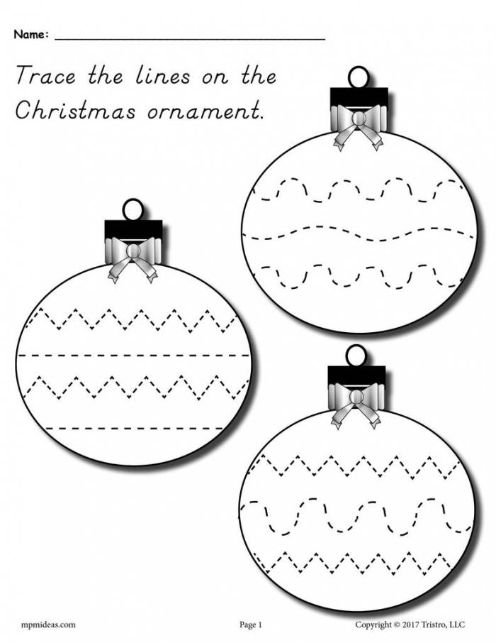 Marvelous Christmas Worksheets Preschool Fine Motor