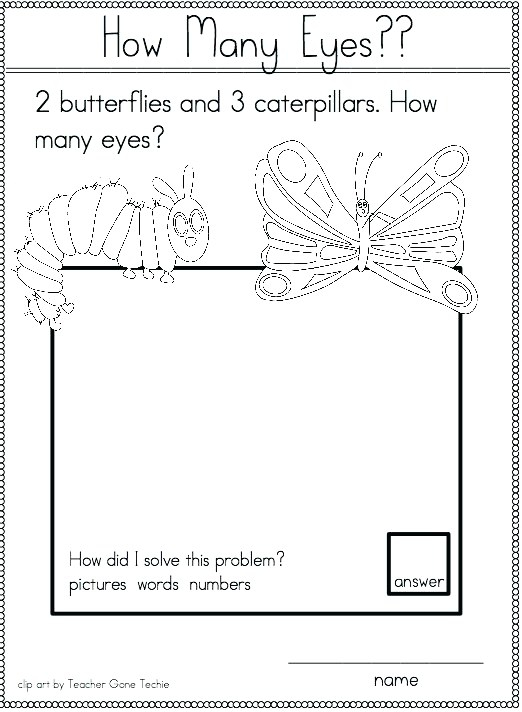 Math Lesson Hungry Caterpillar Worksheets Orig Planes Symmetry