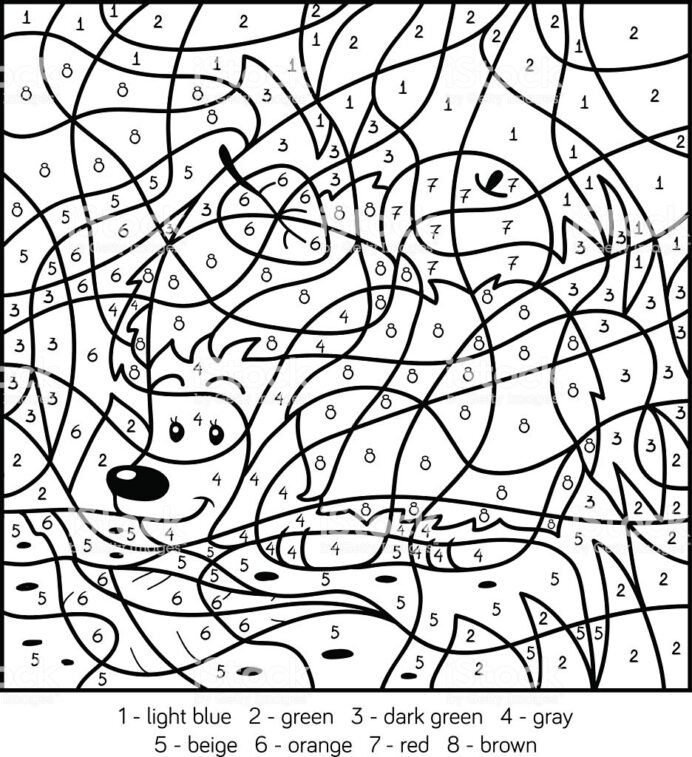 Math Worksheet Coloring By Numbers Free Printables Book Color