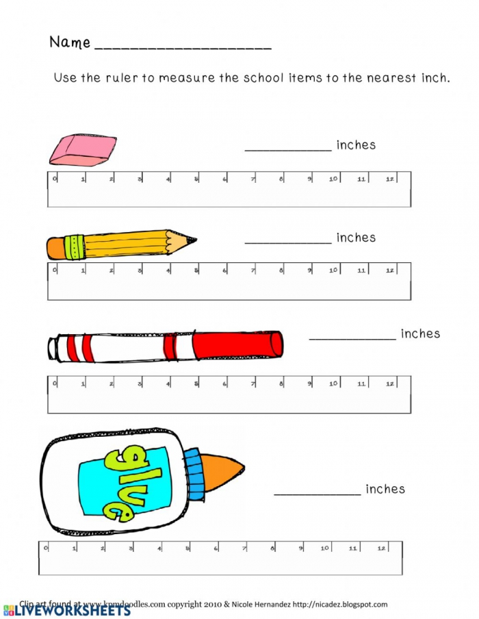 Measurement Worksheets Worksheet