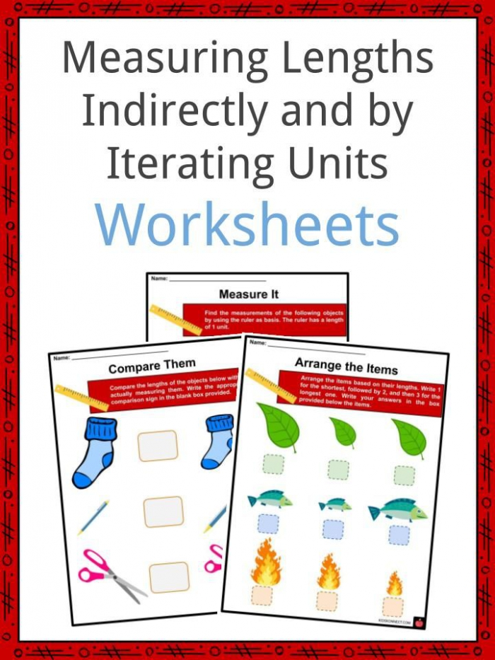 Measuring Lengths Indirectly And By Iterating Units Facts   Worksheets