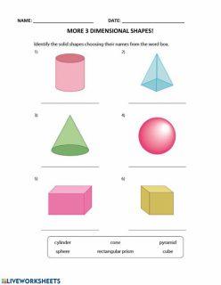 more d shapes worksheet 7