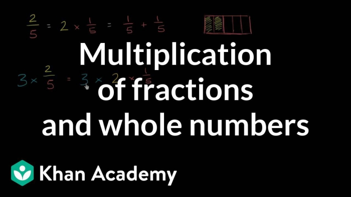 Multiplying Fractions And Whole Numbers Visually Video