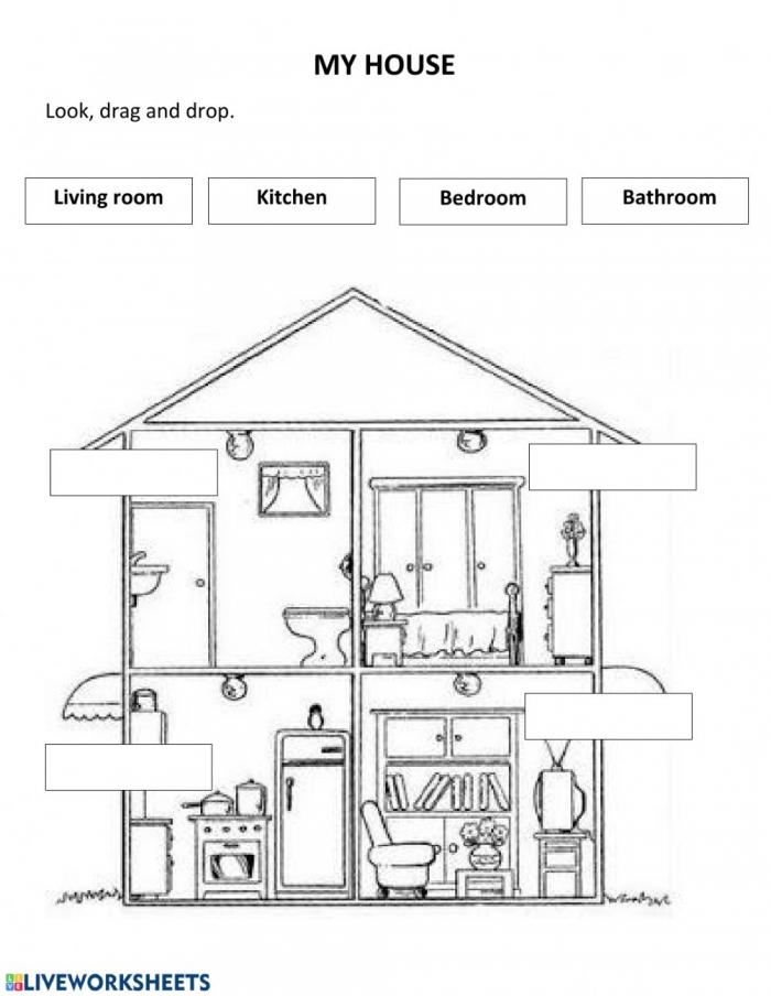 My House Interactive Worksheet