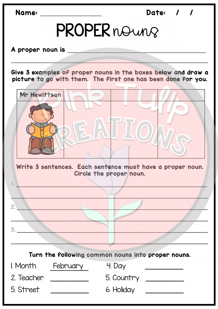 Nouns Bundle Includes  Worksheets To Help Students When