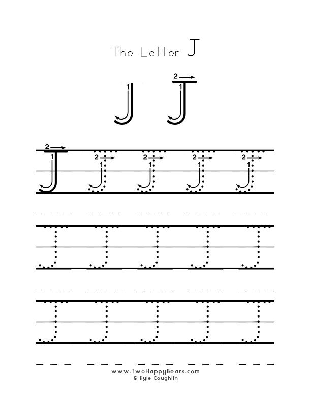 Practice Worksheet For Writing The Letter J  Upper Case  With