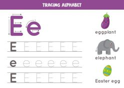 E Is For Eggs! Practice Writing The Letter E