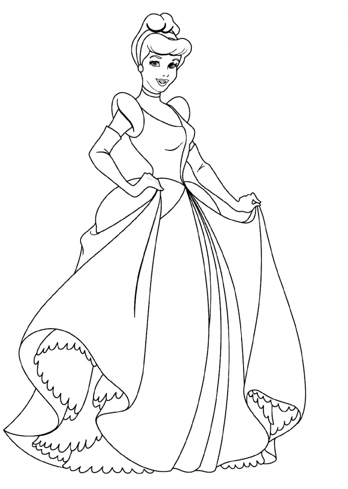 Princess Cinderella Coloring Pages For Coloring Class