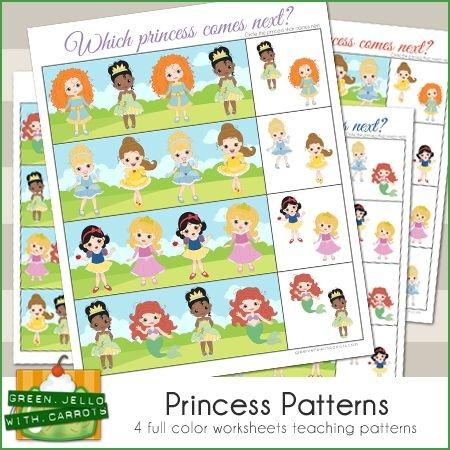 Princess Patterns Printable Worksheets