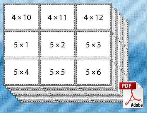 Printable Multiplication Flash Cards