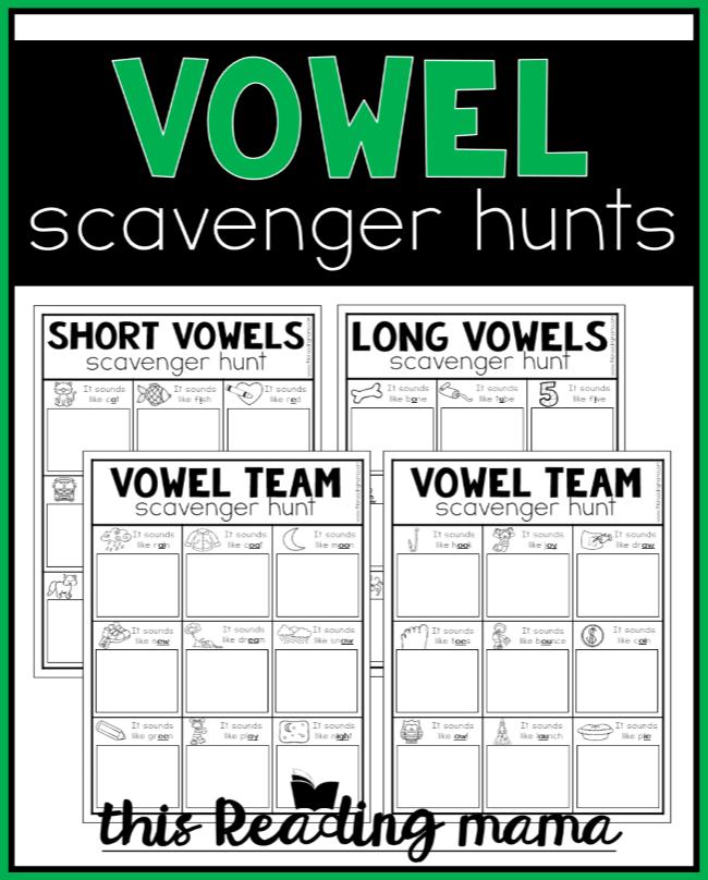 Printable Vowel Scavenger Hunts