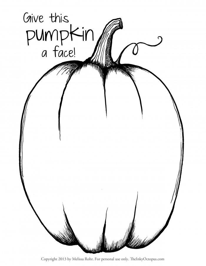 Pumpkin Pattern Coloring Page Printable