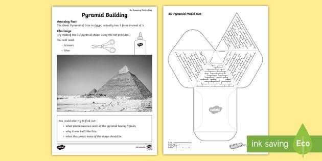 Pyramid Building Worksheet  Worksheet Teacher Made