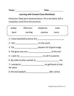 Context Clues Table