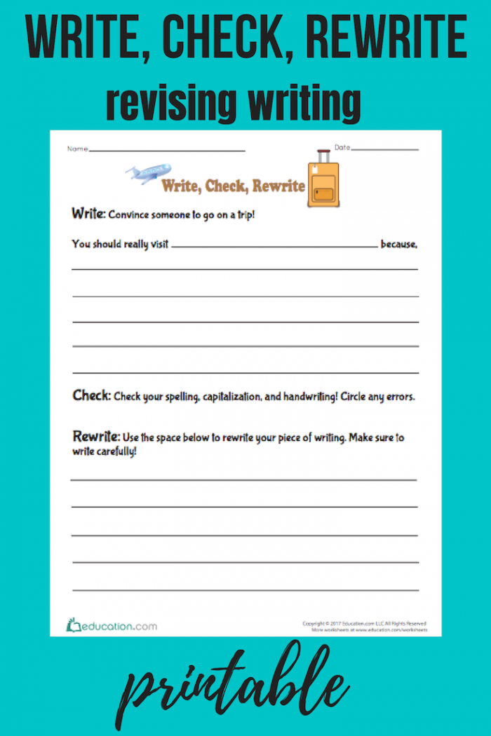 Rewrite A Paragraph Worksheets Page