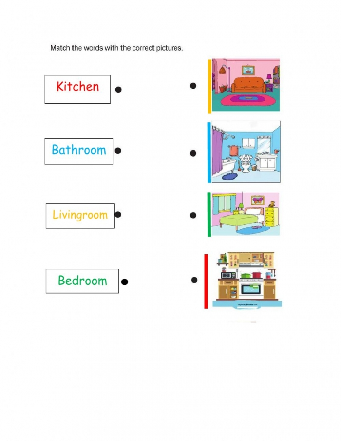 Rooms In The House Worksheet For Elementary