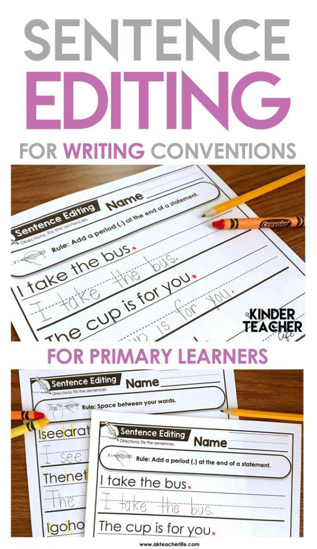 Sentence Editing Worksheets