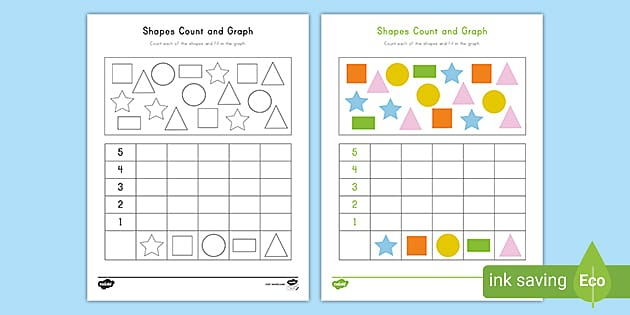 Shapes Count And Graph Activity Teacher Made