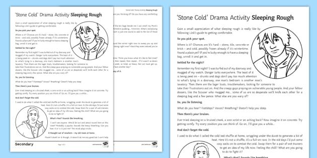 Sleeping Rough Drama Worksheet  Worksheet To Support Teaching On