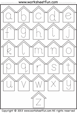 Trace Lowercase Letters