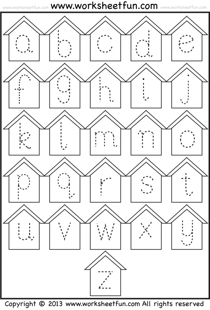 Small Letter Tracing  Lowercase  Worksheet  Birdhouse  Free