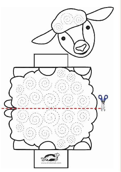 Stand Up Sheep Coloring