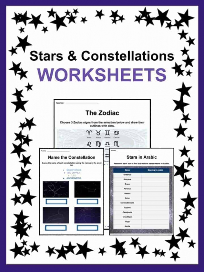 Star And Constellation Facts And Worksheets