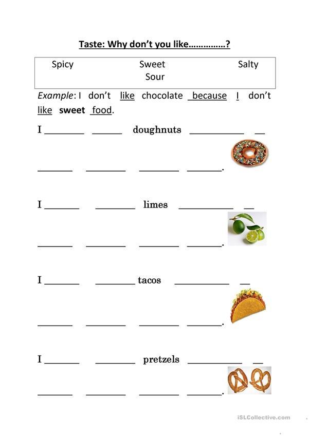 Taste Adjectives