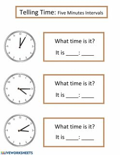 Telling Time: Five Minutes