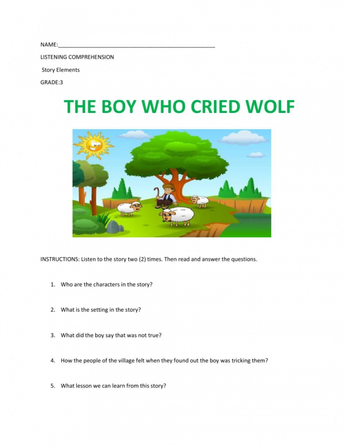The Boy Who Cried Wolf Exercise