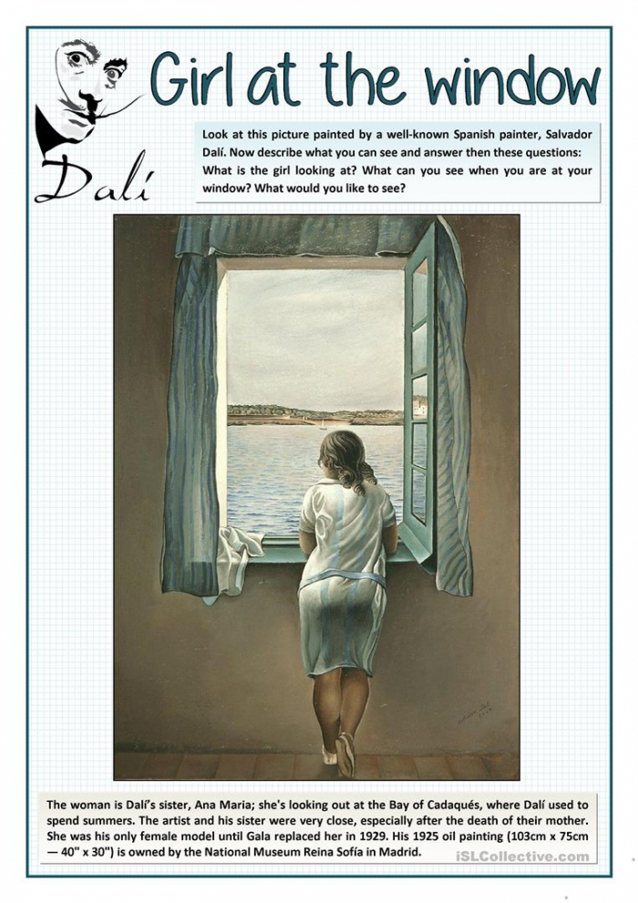 The Girl At The Window By Dal
