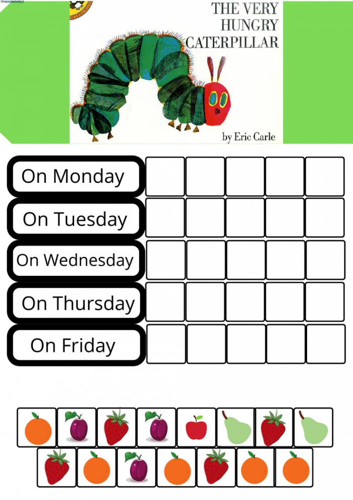 The Very Hungry Caterpillar Activity For