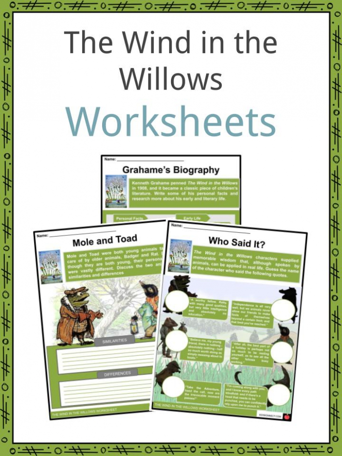 The Wind In The Willows Facts   Worksheets For Kids