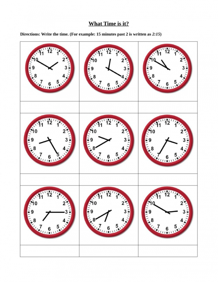 Time To The Nearest Five Minutes Worksheet