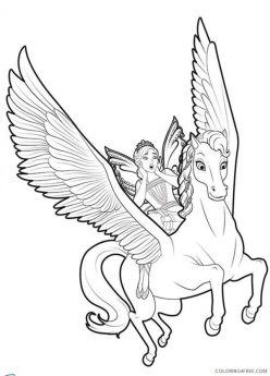 Color The Flying Unicorn