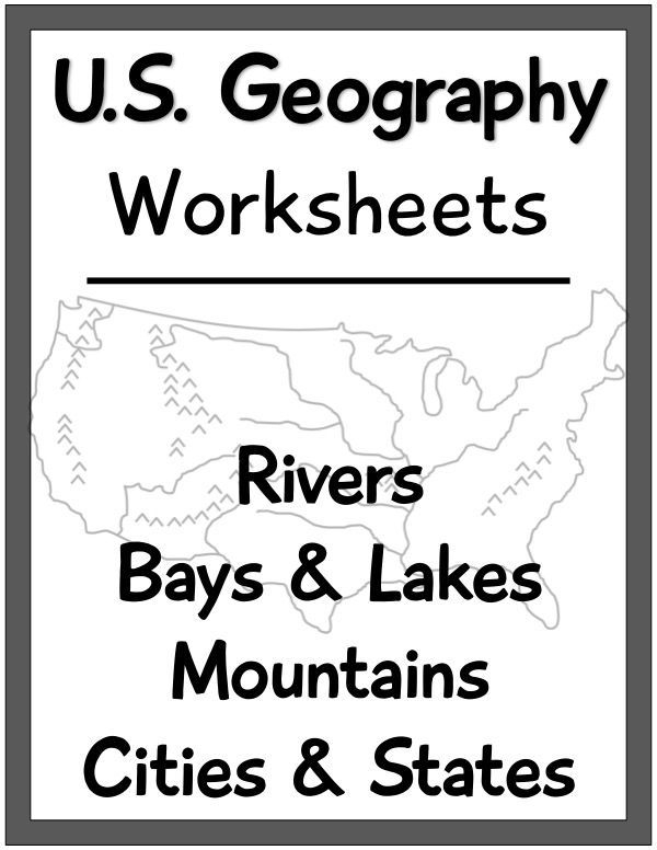 Us Geography Worksheets Focus On Us Rivers  Lakes  Mountains  And