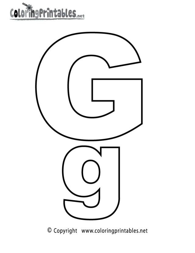 Wonderful Picture Of Letter G Coloring Pages