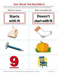 "Words That Begin With ""N"""