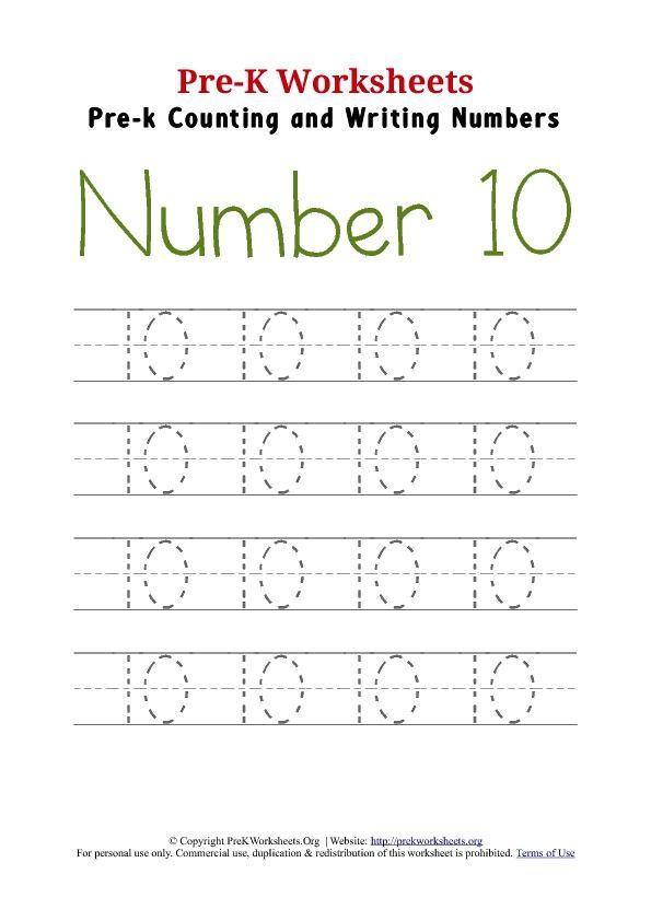 Writing Number  Worksheet